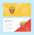 fries abstract corporate business banner template vector image