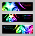 Goat fire banners vector image vector image
