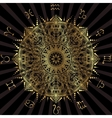 Golden mandala with the signs of the zodiac vector image