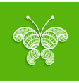 Green decorative butterfly stock vector image vector image