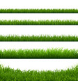 green grass big borders collection vector image vector image
