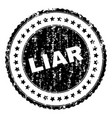 grunge textured liar stamp seal vector image