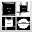 Grunge Tire Brochure vector image vector image