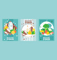 healthy food banners flat vector image