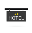 hotel signboard with two star vector image vector image
