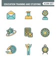 Icons line set premium quality of basic education vector image vector image