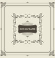 invitation frame vintage ornament greeting card vector image