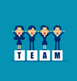 kid office teamwork concept business join vector image