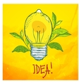 lamp in the form of lemon Idea vector image