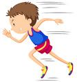 Man runner running in race vector image vector image