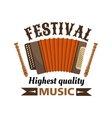 Music festival isolated label emblem vector image vector image