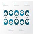 music outline icons set collection of audio level vector image vector image