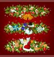 new year holiday garland of christmas tree gift vector image vector image