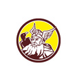 Norse God Odin Raven Circle vector image vector image