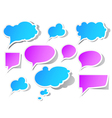 peeling speech bubbles vector image vector image