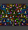 people in a computer network vector image vector image