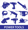 power tools icon set eps10 vector image