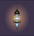 ramadan with hanging lantern vector image vector image