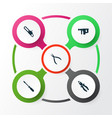 repair icons set collection of hammer saw round vector image