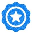 Reward Seal Grainy Texture Icon vector image vector image