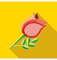 Rose icon flat style vector image vector image