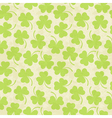 Seamless clover background for St Patricks Day vector image vector image