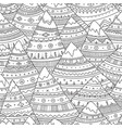 seamless pattern with boho ornamental mountains vector image vector image