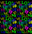 seamless pattern with love abstract heart-shaped vector image
