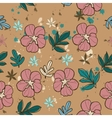 Seamless texture with pink flower vector image