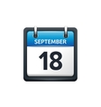 September 18 Calendar icon vector image vector image