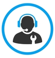 Service Operator Flat Rounded Icon vector image vector image