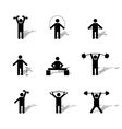 Set athlete silhouettes vector image vector image