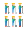 set of farmers woman vector image vector image