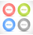 Set of Hand drawn watercolor circles design elemen vector image
