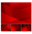 set of red color geometric abstract background vector image vector image
