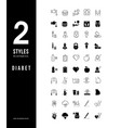 simple line icons diabet vector image vector image