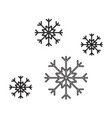 snowflakes simple icon without fill vector image vector image