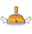 Surprised dustpan character cartoon style