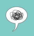 tangled thoughts comic speech bubble isolated vector image vector image