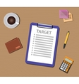 target list with check and clipboard vector image
