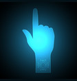 technology future point touch hand vector image vector image
