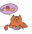 The cat is a vegetarian diet vector image