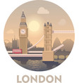 Travel destination London vector image