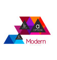 Triangle shape design abstract business logo icon