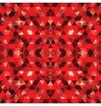 Triangular Mosaic Red Background vector image vector image