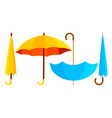 umbrella icon opened and closed autumn vector image