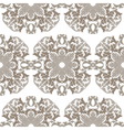 Vintage round Baroque ornament pattern vector image vector image