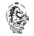 Wild horse Vintage emblem vector image vector image