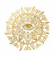 with beautiful hand drawn sun symbol vector image vector image