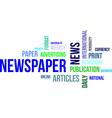word cloud newspaper vector image vector image